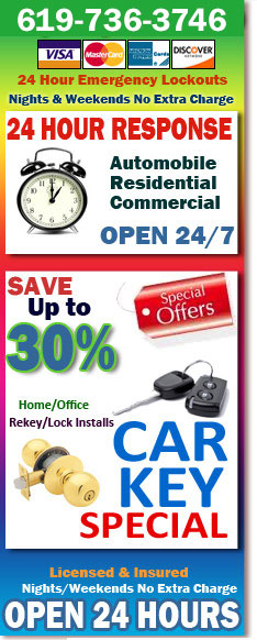 24 Hour Professional Locksmith El Cajon